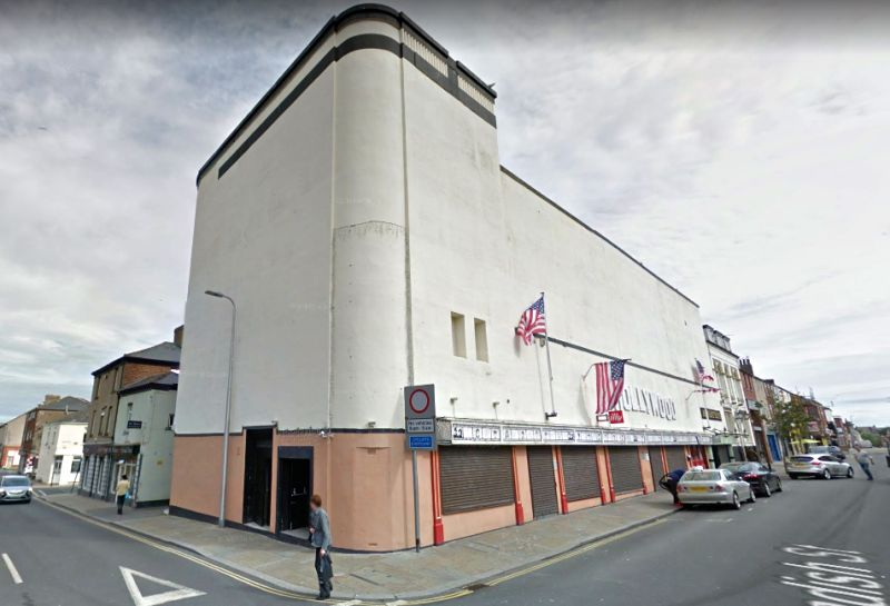 A Google StreetView Image of the former Roxy Cinema, Barrow in Furness, formerly the Alhambra Theatre / Royalty Theatre - Click to Interact.