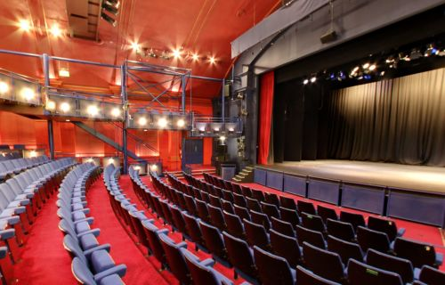 A Google StreetView 360 degree view of the Auditorium of the Haymarket Theatre, Basingstoke today - Click to Interact.