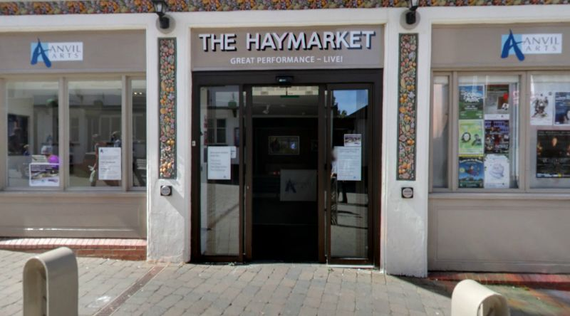 A Google StreetView image the Haymarket Theatre, Basingstoke today - Click to Interact.