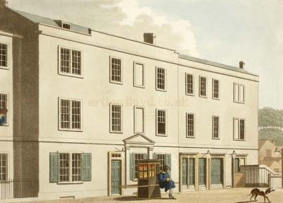 The Theatre Royal, Orchard Street in 1804 - With kind permission (c) Bath in Time - Bath Central Library Collection.