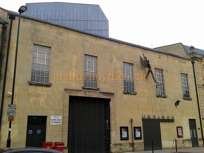 The Rear elevation, Stage House, Scene Dock doors, and Stage Door of the Theatre Royal and Ustinov Theatre, Bath in March 2013 - Courtesy Piers Caunter.