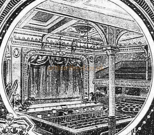 The Auditorium of the Battersea Palace Music Hall - From A Battersea Palace Programme - Courtesy Peter Charlton.