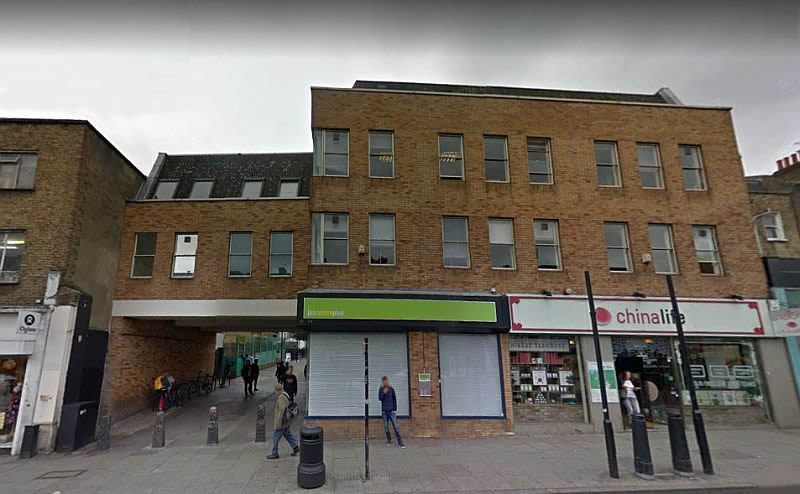 A Google StreetView Image of the Site of the Bedford Theatre today - Click to Interact