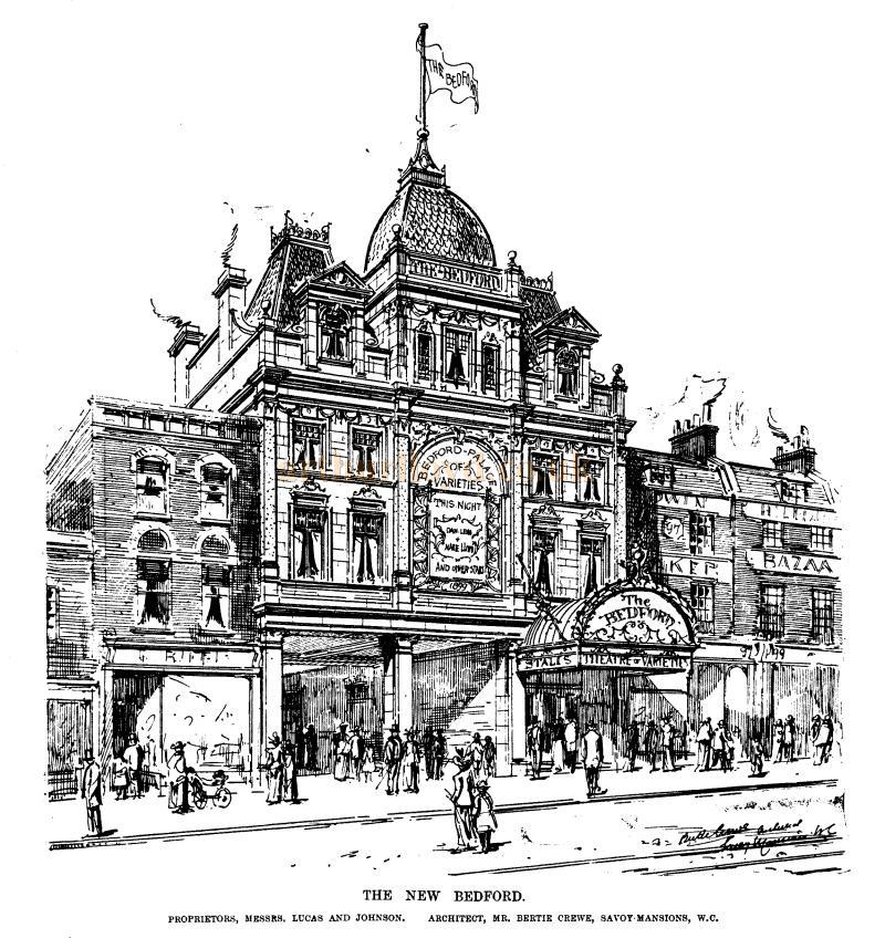 A sketch of the New Bedford Theatre - From the ERA, 4th of February 1899 - To see more of these Sketches click here.