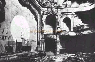 The interior of the Bedford Theatre after it had closed in 1959 - Courtesy John Barber.