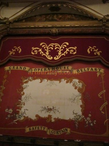 The Safety Curtain of the Grand Opera House, Belfast in June 2016 - Courtesy David Garratt