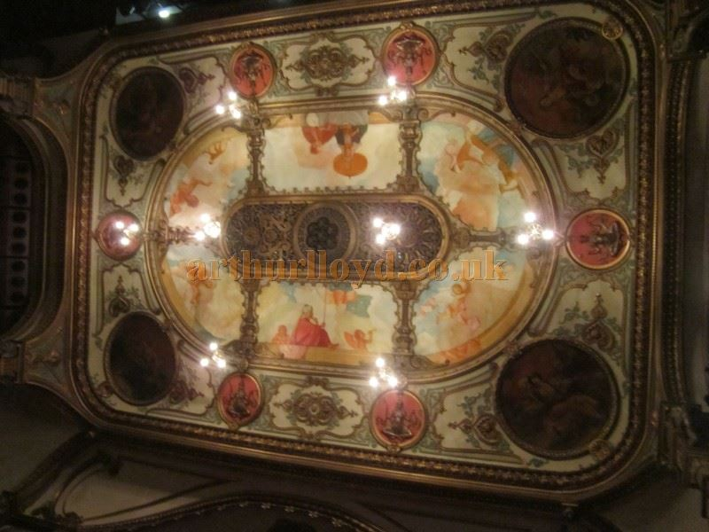 The Auditorium Ceiling at the Grand Opera House, Belfast in June 2016 - Courtesy David Garratt