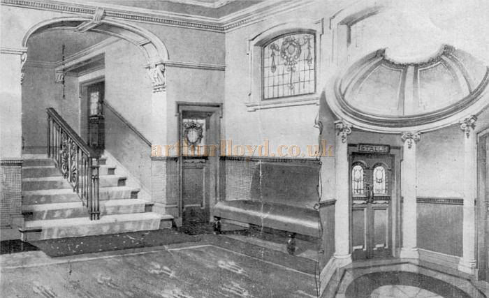 The New Entrance and Waiting Room of the Argyle Theatre, Birkenhead in 1909