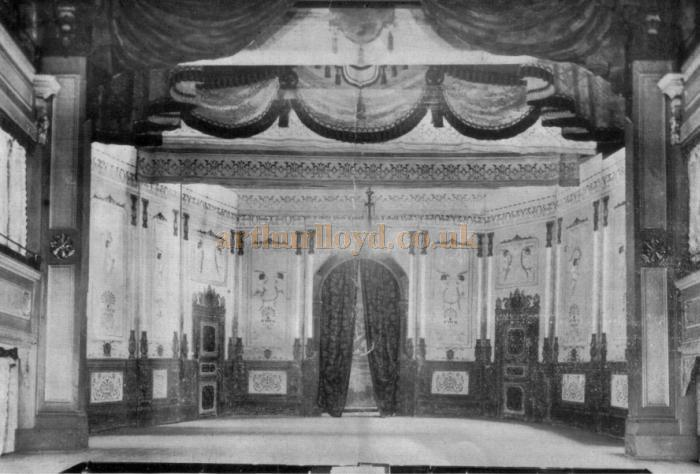 The Stage of the Argyle Theatre, Birkenhead in 1909