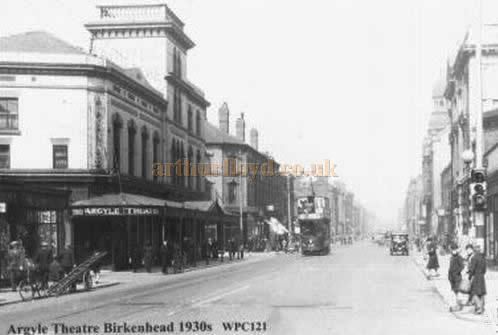 The Argyle Theatre, Birkenhead - From a 1930s Postcard.