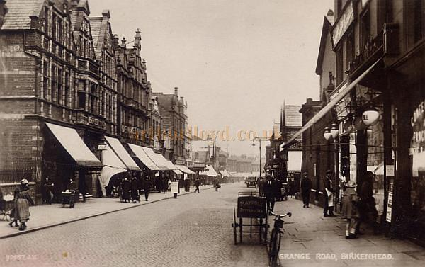 Grange Road, Birkenhead, the Hippodrome can just be seen to the far left - Courtesy Maurice Friedman, British Music hall Society