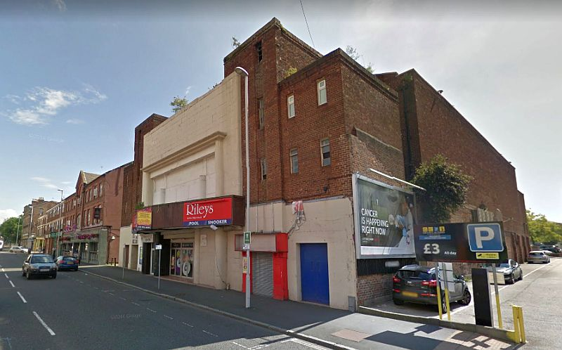 A Google StreetView Image of the ABC / Savoy Cinema, Birkenhead, formerly the site of the Theatre Royal / Scala Picture House - Click to Interact.