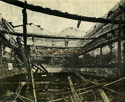 The auditorium of the Argyle Theatre in ruins after being hit by a bomb in 1940. - From the Liverpool Echo. - Courtesy Geoff Unwin.