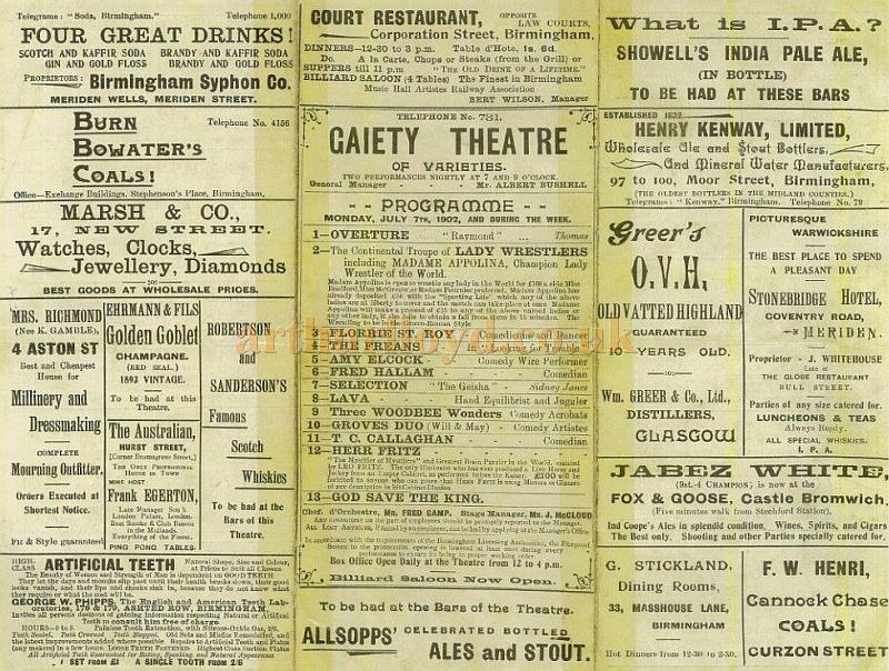 Holder's Grand Concert Rooms, 88, 89, 90, Coleshill Street ...