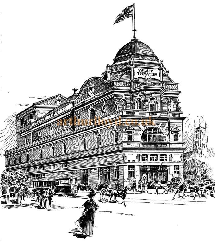 A Sketch of the new Palace Theatre, Blackburn - From the ERA, 9th of December 1899 - To see more of these Theatre Sketches click here.