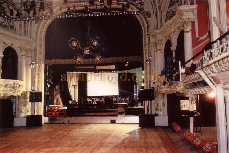 The Auditorium and Stage of the former Grand Pavilion Theatre in 1985 - Courtesy Ted Bottle