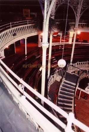 The Auditorium from the Gallery of the former Grand Pavilion Theatre in 1985 - Courtesy Ted Bottle.