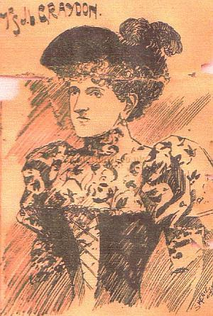 Mrs. J. L. Graydon, also known as Miss Lottie Cherry in her Music Hall performing days, helped her husband Mr. J. L. Graydon run the Middlesex Music Hall. She also helped manage Foresters Music Hall with her husband and then went on to manage the Alhambra in Brighton. - From the Encore - Courtesy Jean Green, Great Granddaughter of John William Cherry.