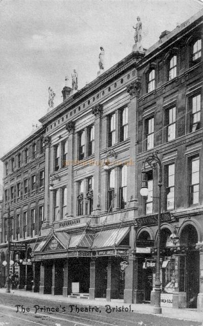 The Prince's Theatre, Bristol from a period postcard.