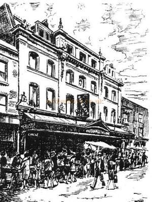 A Sketch of the Britannia Theatre Hoxton - From 'The Romance of London Theatres' By Ronald Mayes.