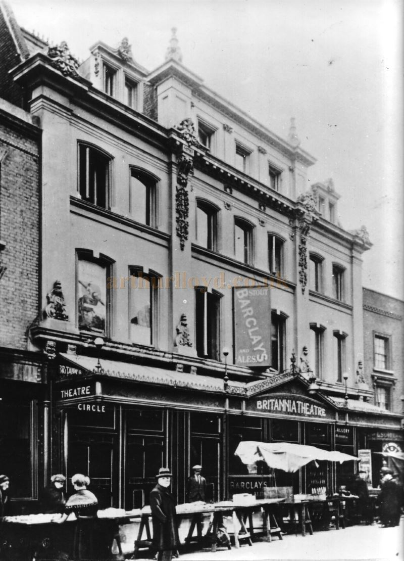 An early photograph of the Britannia Theatre, Hoxton - Courtesy Peter Charlton.