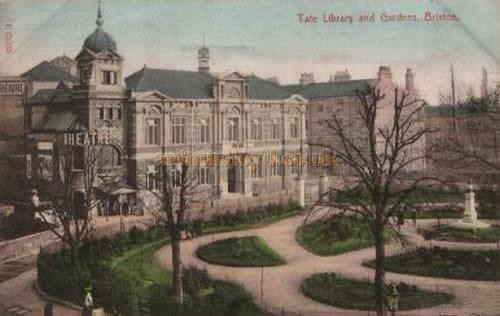 The Brixton Theatre and Tate Library - From a Postcard sent in 1907