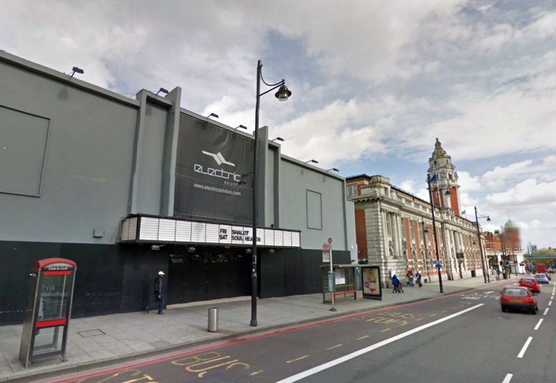 A Google StreetView Image of the Electric Brixton, formerly the Palladium Picture Playhouse - Click to Interact.