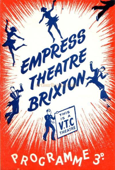 A Twice Nightly Variety programme for the Empress Theatre, Brixton for the week commencing October 17th 1955.