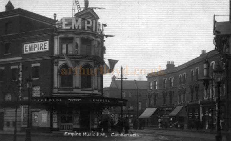 The Empire Theatre, Camberwell, formerly the Metropole Theatre, in a photograph taken post 1906