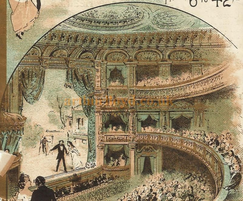 The Auditorium of the Metropole Theatre, Camberwell - From a Programme for 'Our Flat' at the Theatre in March 1898 - Courtesy David Garratt. Click to see the entire programme.