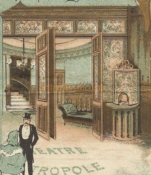 The Foyer of the Metropole Theatre, Camberwell - From a Programme for 'Our Flat' at the Theatre in March 1898 - Courtesy David Garratt. Click to see the entire programme.