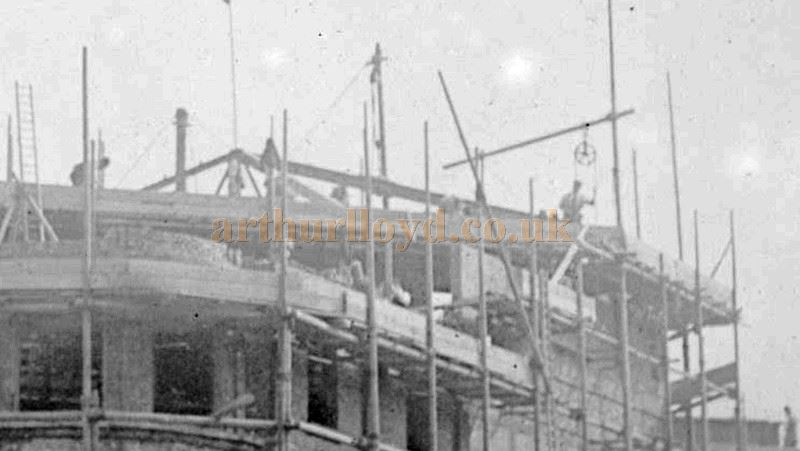 A very rare Photograph of the construction of the Metropole Theatre, Camberwell in 1894 - © M.L.