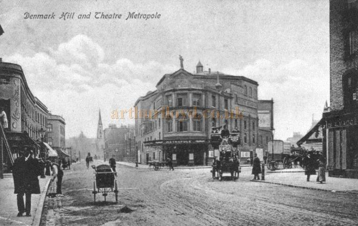 A 1904 postcard of the Metropole Theatre, Denmark Hill, Camberwell, later the Empire Theatre
