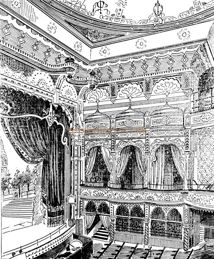 The auditorium of the Camberwell Palace - From the ERA, 2nd of December 1899