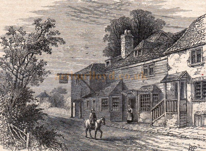 The Rosemary Branch Tavern in 1800 - From the Peckham and Dulwich Section of 'Old and New London' Volume 6 published in 1897.
