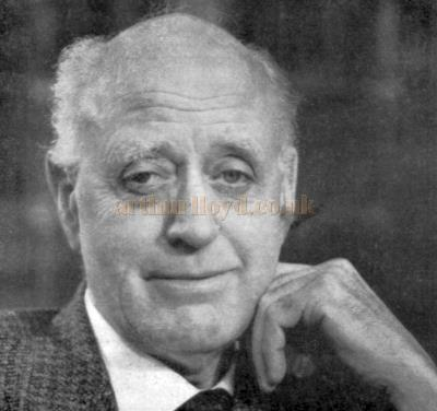 A photograph of Alistair Sim - From a programme for 'The Magistrate' which was produced at the Cambridge Theatre in 1969 - Kindly Donated by Linda Chadwick.