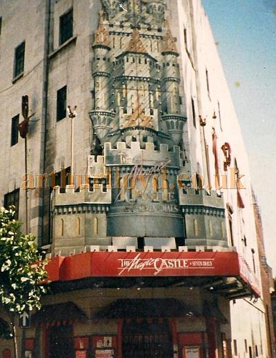 The Cambridge Theatre in 1986 still with its 'Magic Castle' signage but after the production had closed and before the Theatre was purchased by Stoll Moss Theatres and restored - Courtesy Jason Mullen.
