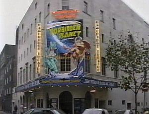 The Cambridge Theatre during the run of 'Return To The Forbidden Planet' in 1989 - Photo M. L.