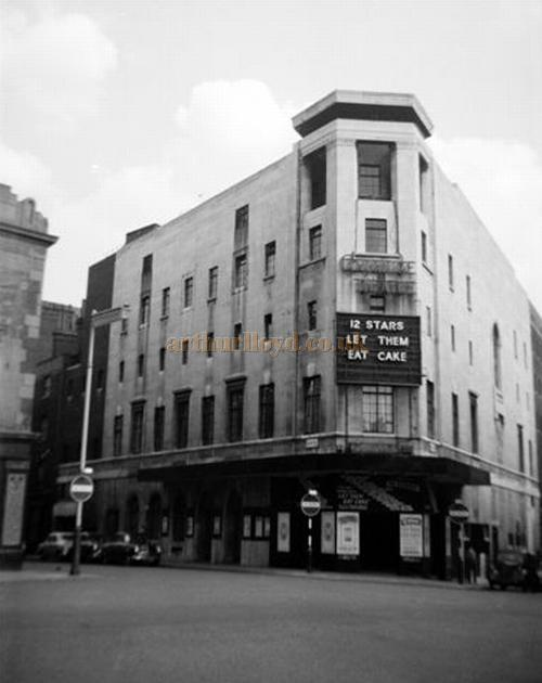 The Cambridge Theatre during the run of 'Let Them Eat Cake' in the 1950s - Courtesy Gerry Atkins