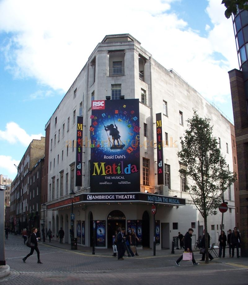 The Cambridge Theatre during the run of Roald Dahl's 'Matilda' in October 2011 - Photo M.L.