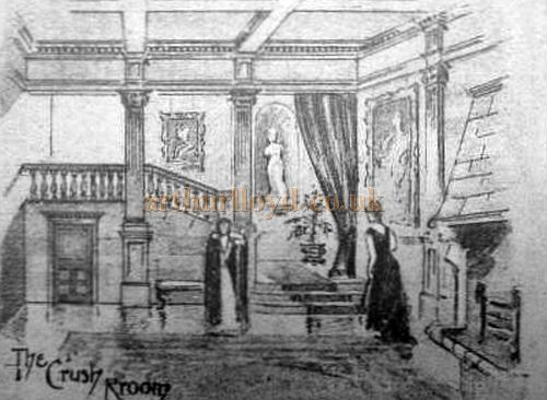 The Crush Room of the Theatre Royal, Cambridge - From The American Architect and Building News of July 1895.
