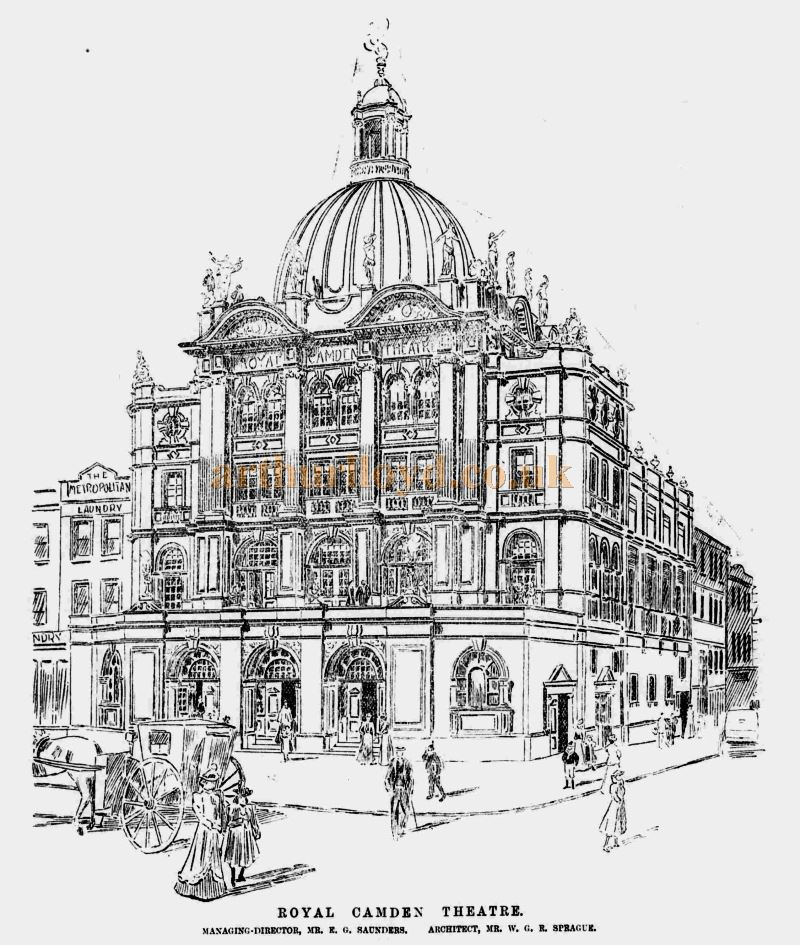 A Sketch of the Royal Camden Theatre - From the ERA, 22nd December 1900 - To see more of these Sketches click here.