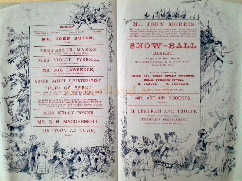 A Programme for the Canterbury Theatre in March 1880 - Courtesy Troy Murphie.