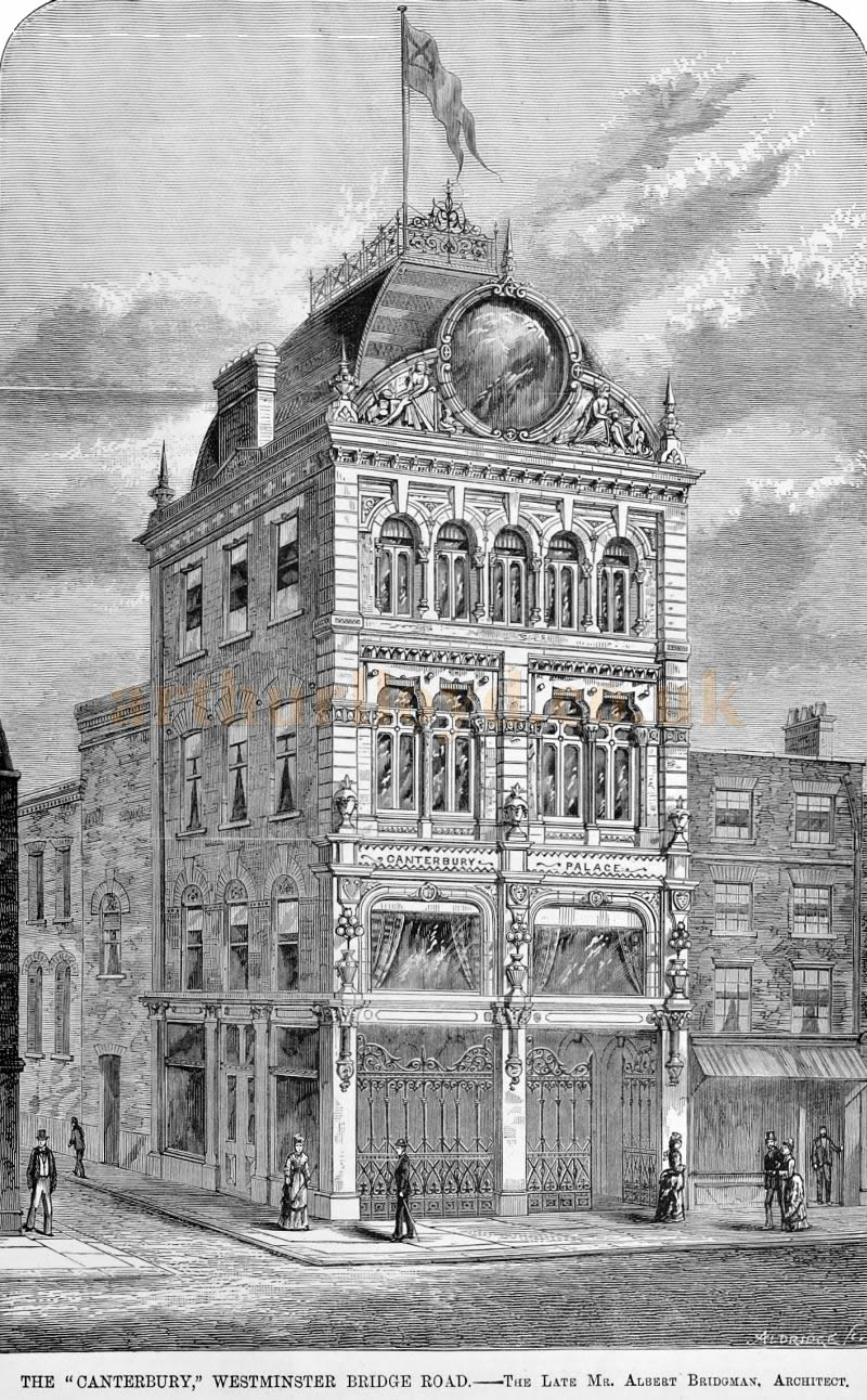 The Canterbury Theatre of 1876 - From The Builder, 16th of September 1876.