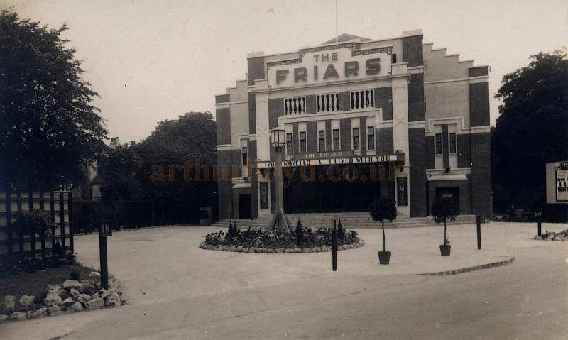 A postcard depicting the Friars Cinema, Canterbury when it first opened and during the run of the 1933 film 'I Lived With You' with Ivor Novello - Courtesy Maurice Friedman, British Music hall Society