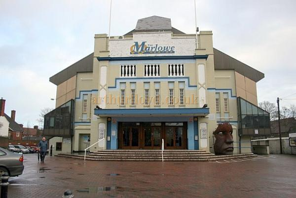 The second Marlowe Theatre, Canterbury, formerly the Odeon Cinema, in February 2007 - Courtesy Roger Fox.