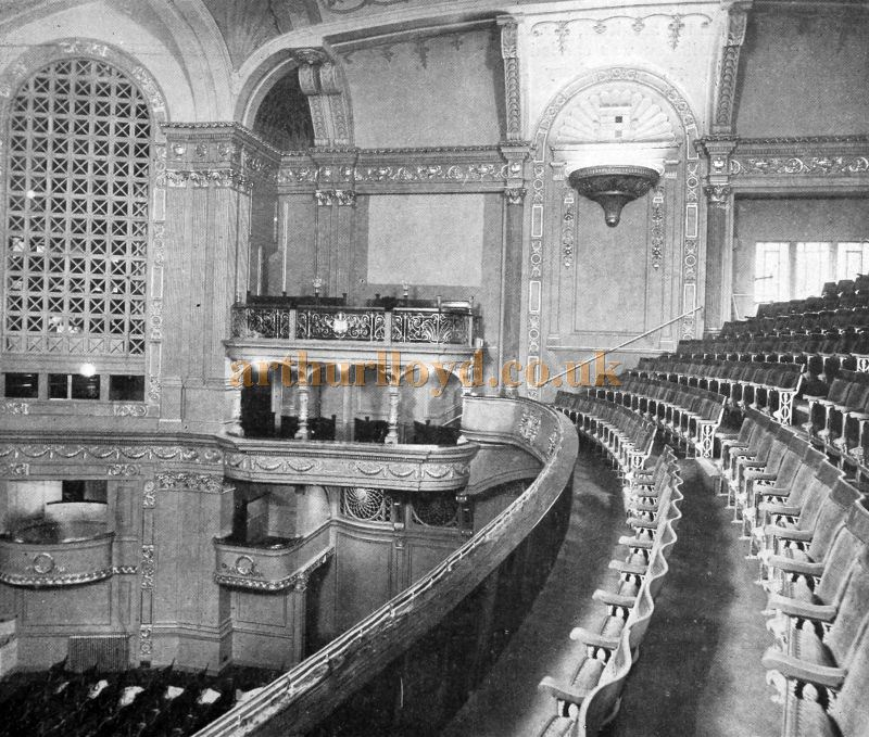 The Auditorium of the Capitol Theatre, Haymarket - From The Cinema News and Property Gazette, February 19th, 1925.