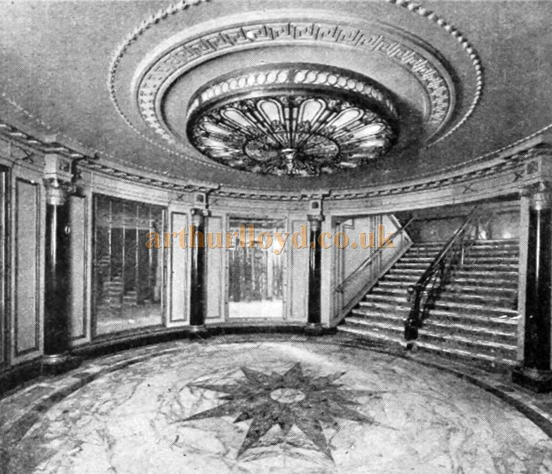 The Main Entrance of the Capitol Theatre, Haymarket - From The Cinema News and Property Gazette, February 19th, 1925