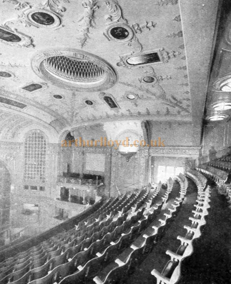 The Illuminated Dome of the Capitol Theatre, Haymarket - From The Cinema News and Property Gazette, February 19th, 1925