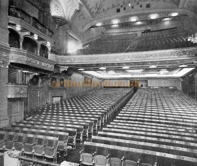 The Stalls of the Capitol Theatre, Haymarket - From The Cinema News and Property Gazette, February 19th, 1925